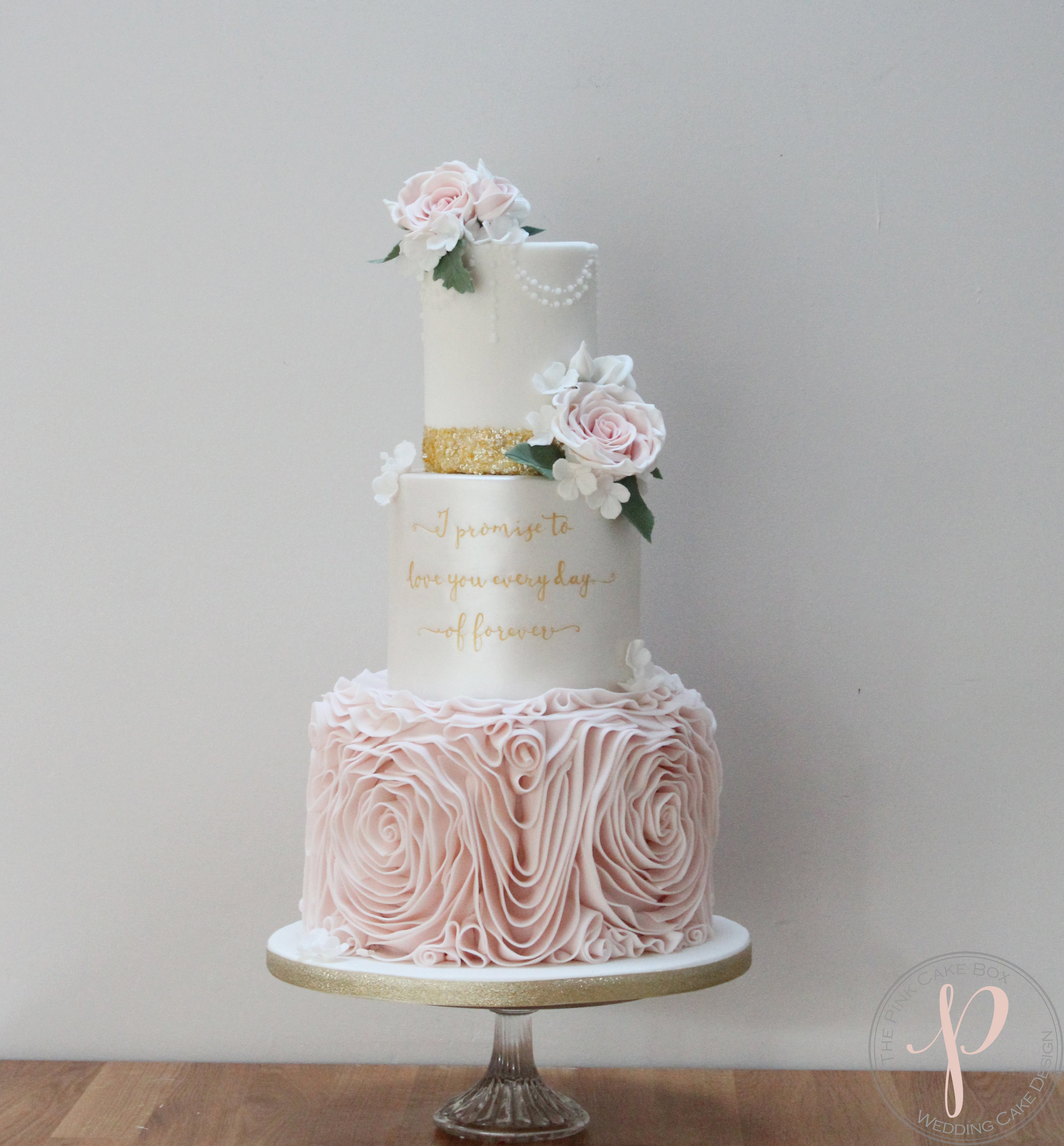 Elegant Wedding Cakes The Pink Cake Box Wedding Cake Design