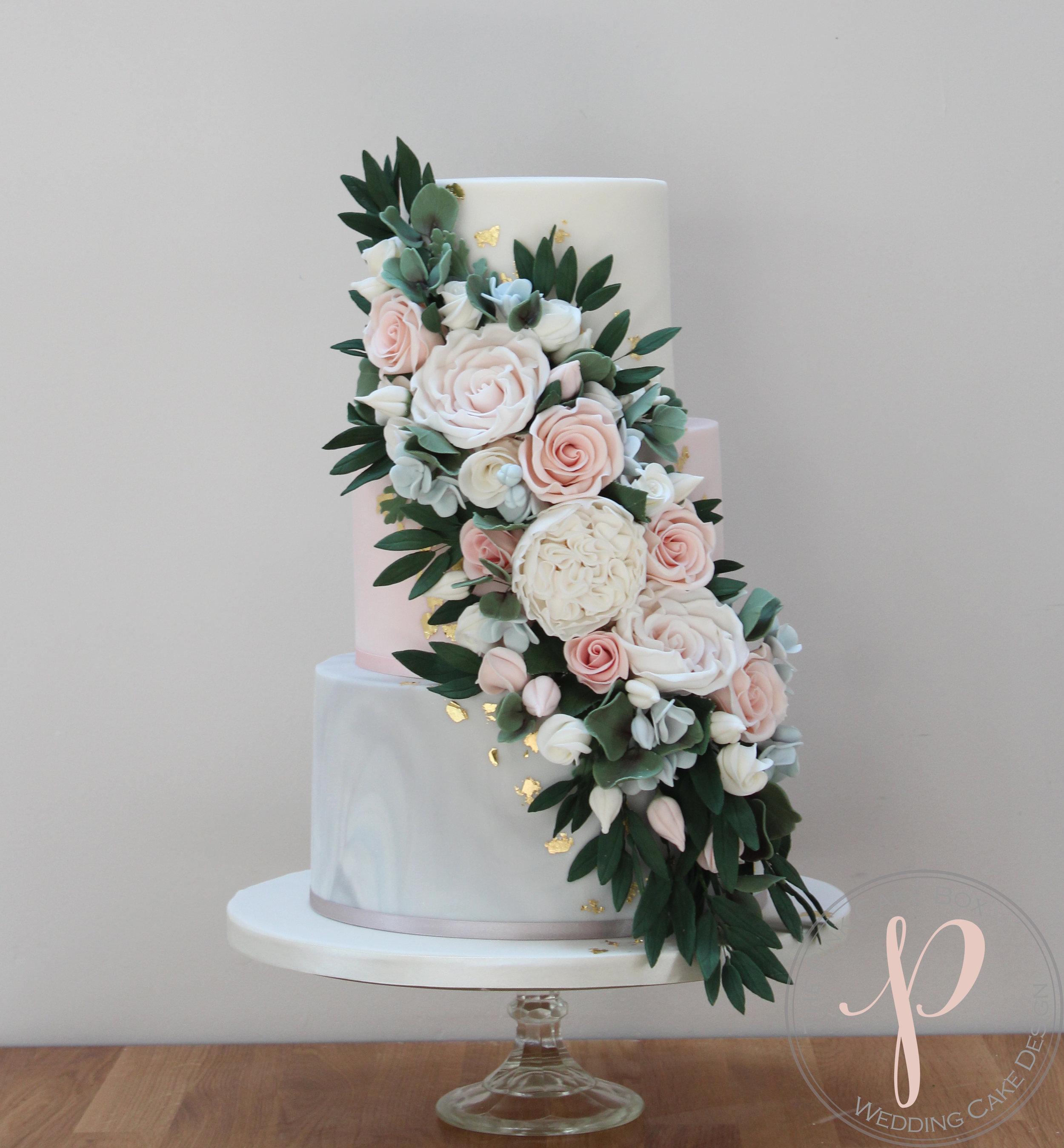 floral cascade wedding cake grey marble blush.jpg