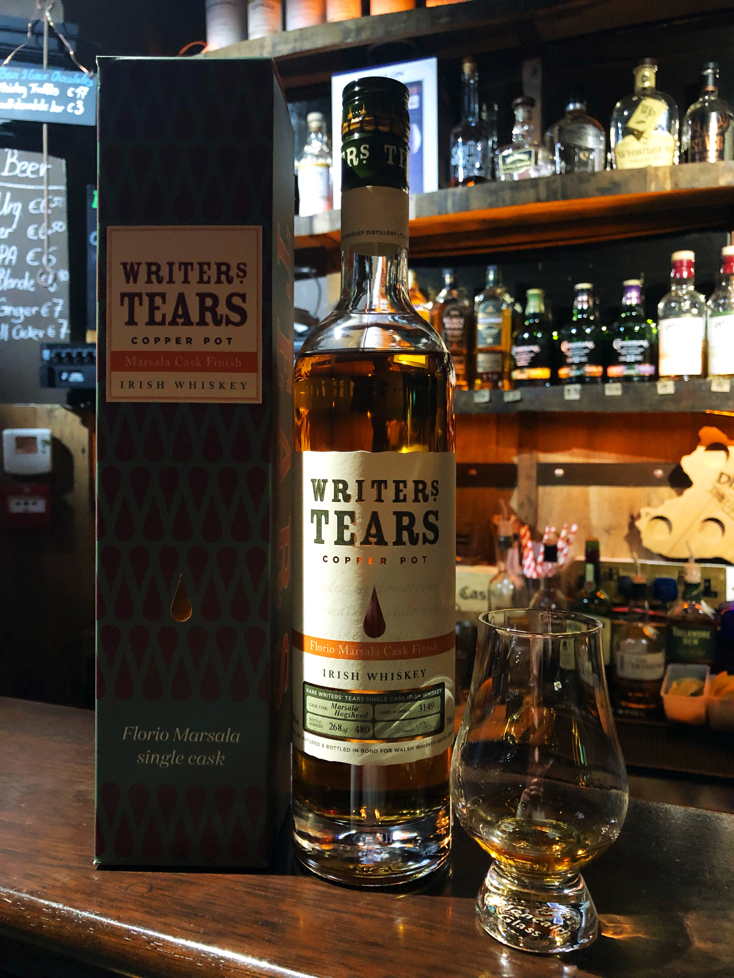 When we first opened it at Dingle Whiskey Bar in Dublin, Ireland.