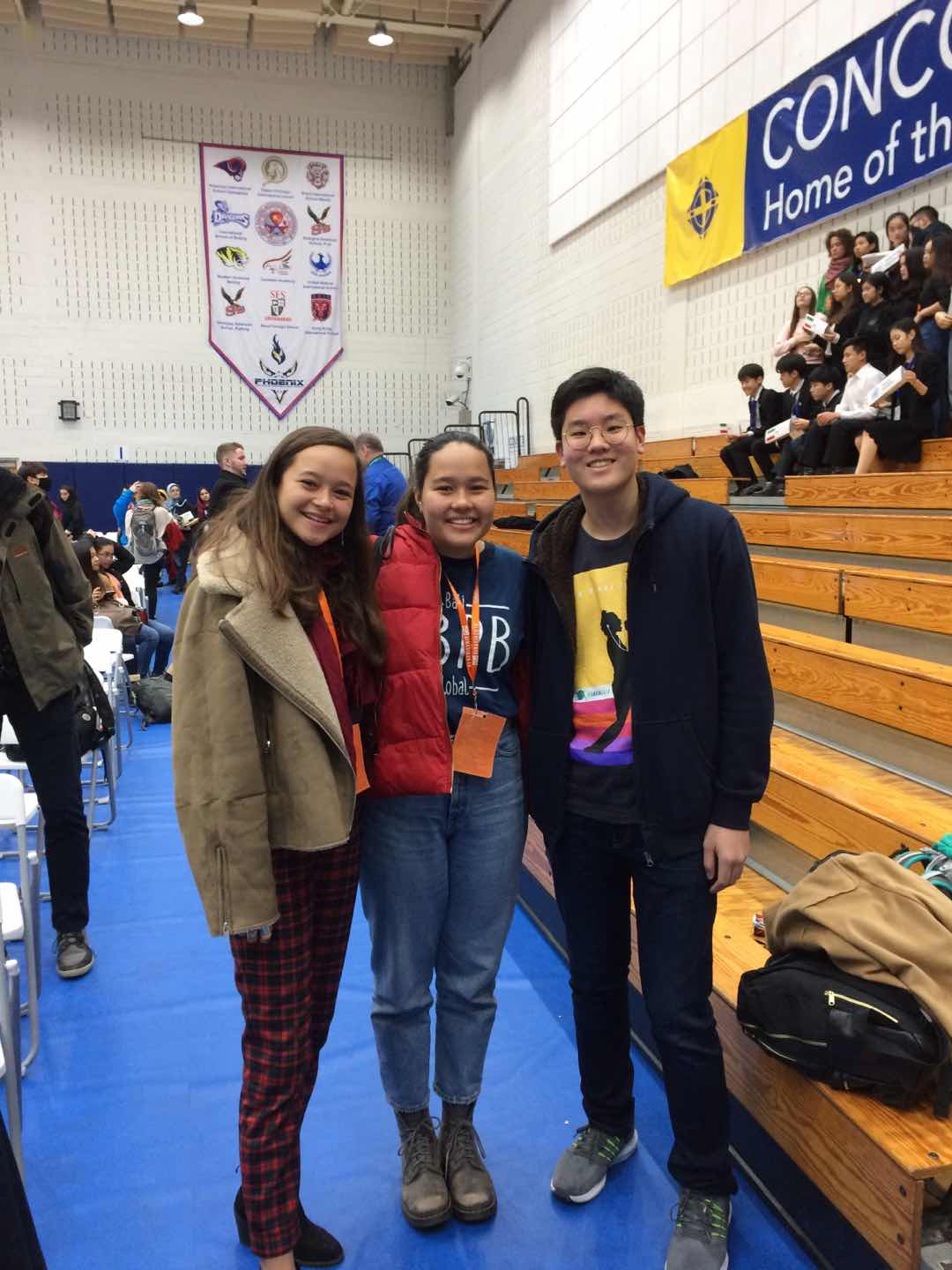 Hoony with Melati and Isabel (BBPB founders) at GINAsia 2018, January 2018.