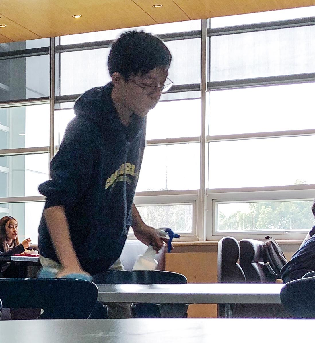Concordia Middle School student Daniel W. is making an impact through his act of service.  (image: Melissa T., Concordia Applied Journalism)