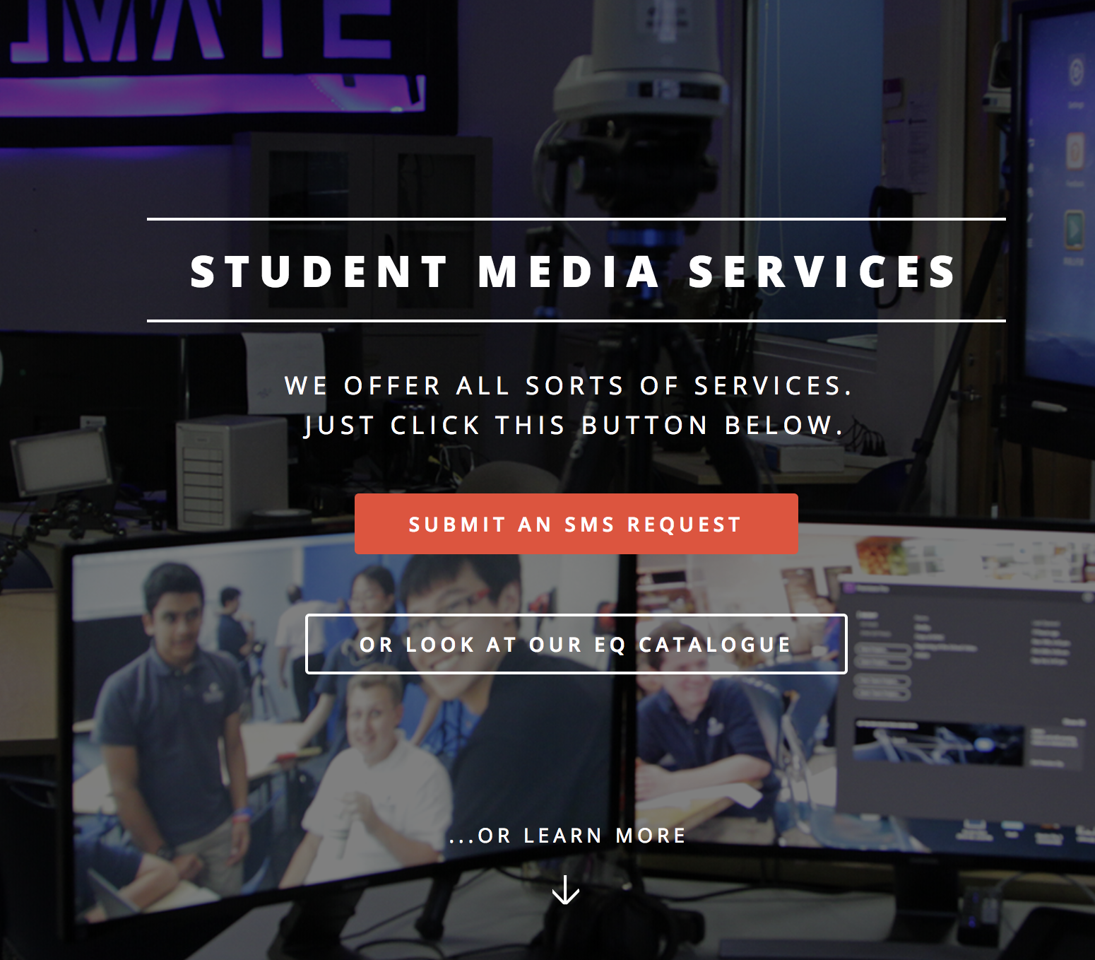 From a system dominated by paper, e-mail and word-of-mouth, the new SMS database provides a dependable, trackable way for Concordians to request media projects.