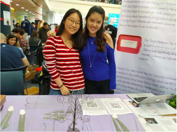 Karen M. and Kyuwon K., senior students and leaders of the GIN LILY project this year.