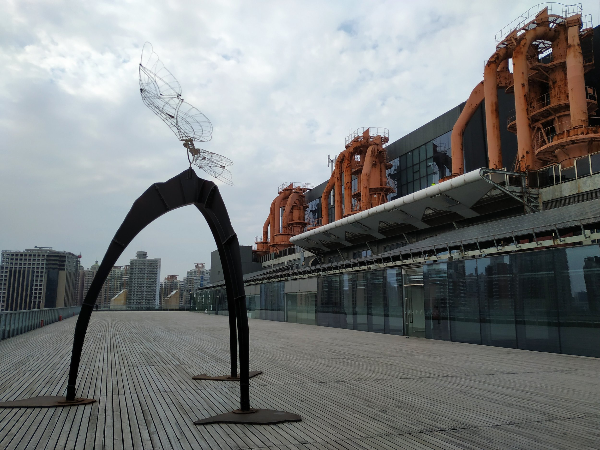 Outdoor sculpture at Shanghai's Power Station of Art gallery.