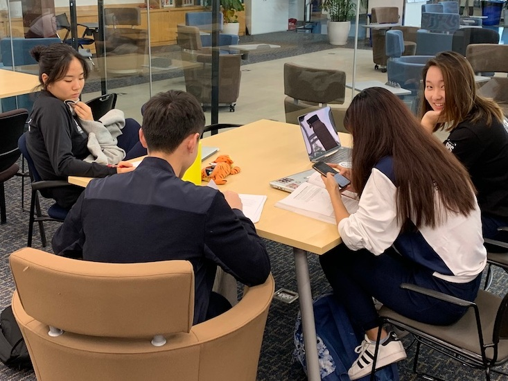 Less than two weeks to graduation, and seniors are still focused on studying for exams.  (image: Jacob R., Concordia Applied Journalism)