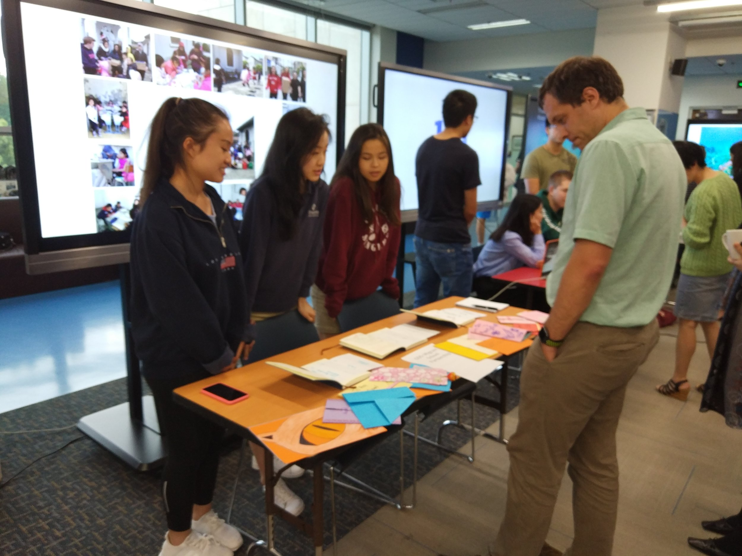 A Global Development Studies group that established a partnership with a local migrant community and school this year.