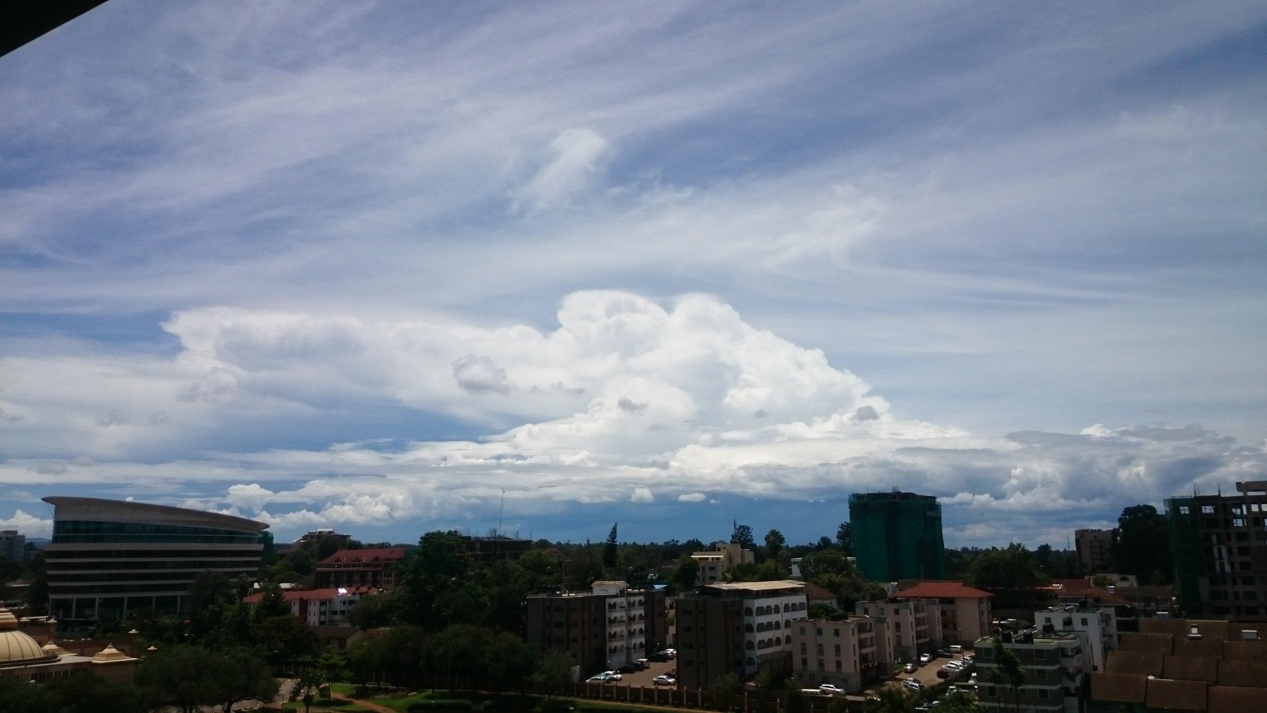 Rain clouds as seen from Westlands, Nairobi