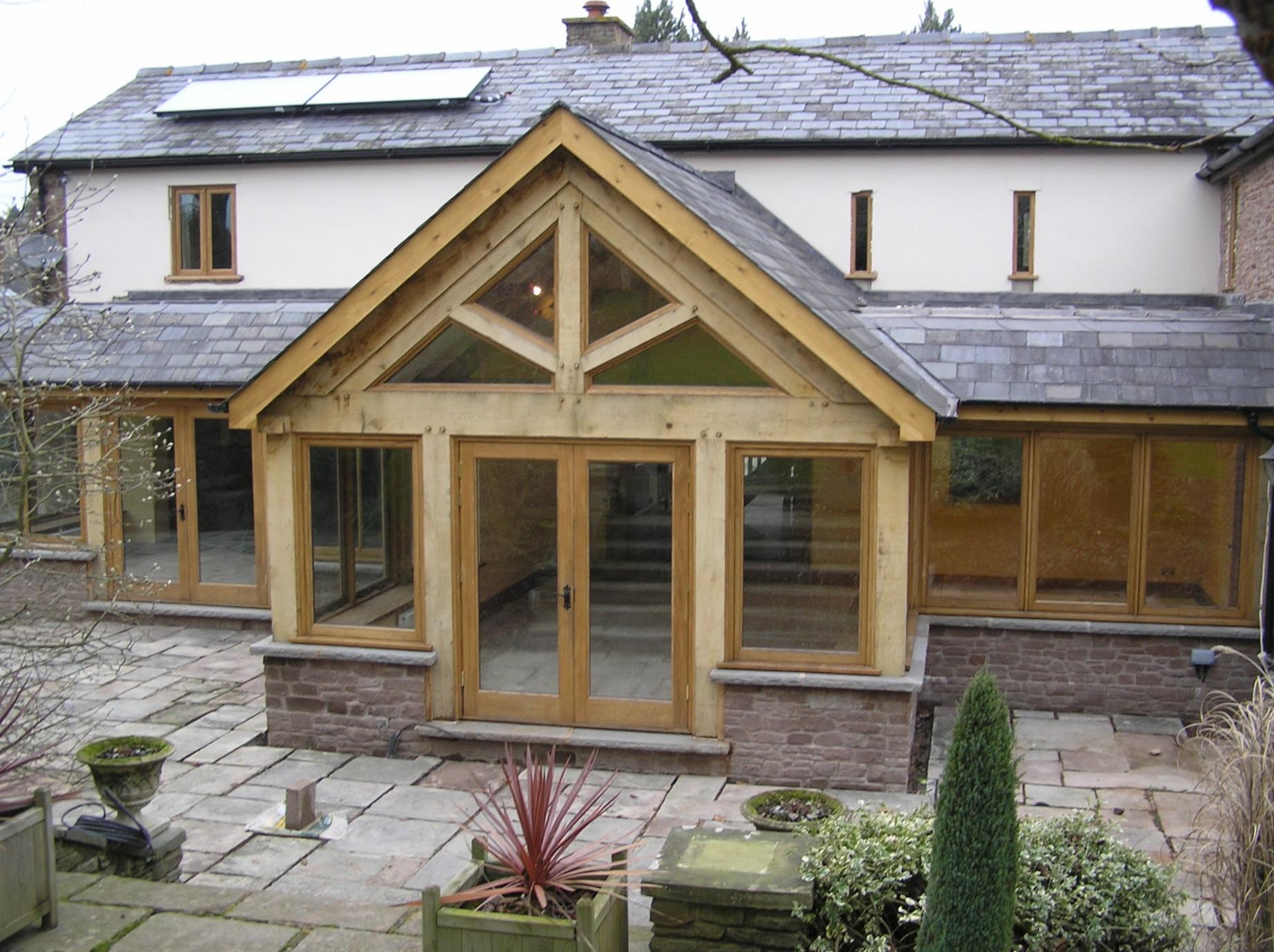 Oak Garden room with Oak doors