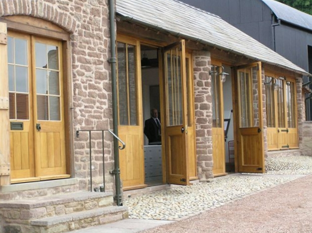 Hardwood double doors Hereford
