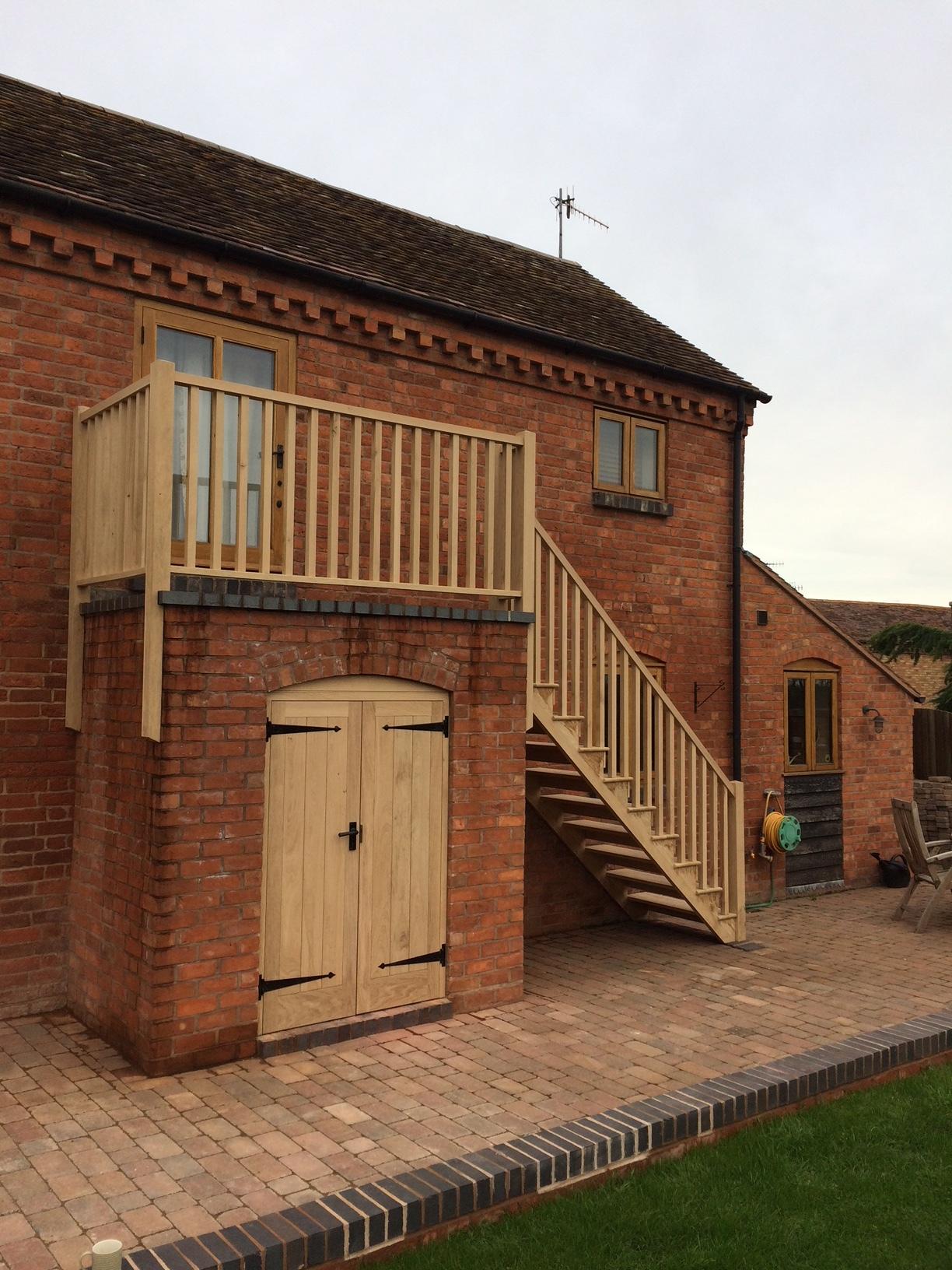 Oak ledge and braced doors Hereford