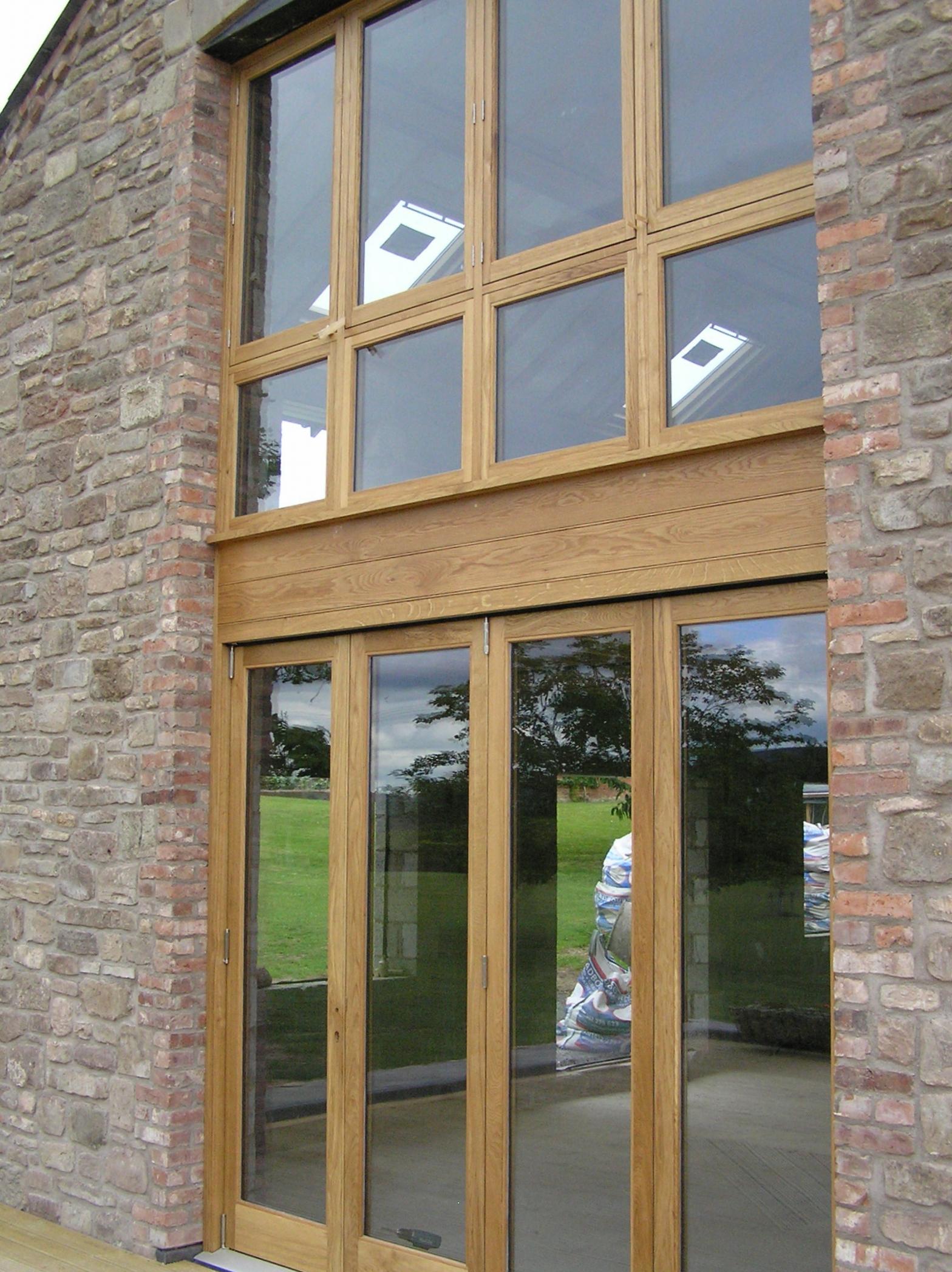 Hardwood Bi-fold doors and frame Herefordshire