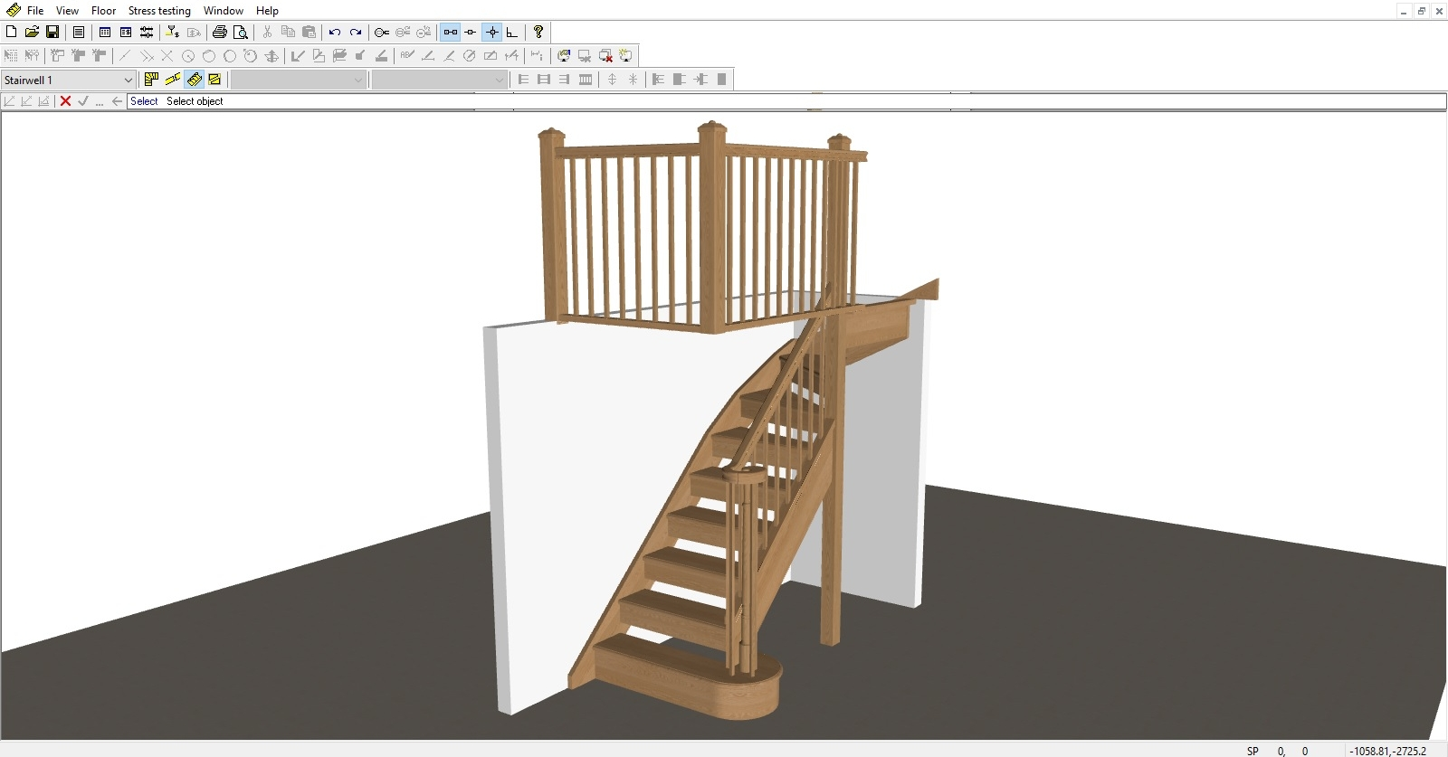 3D Elevation Drawings - Using Staircon we can provide you with 3D images of the staircase we have designed so you can see it before it's been made.