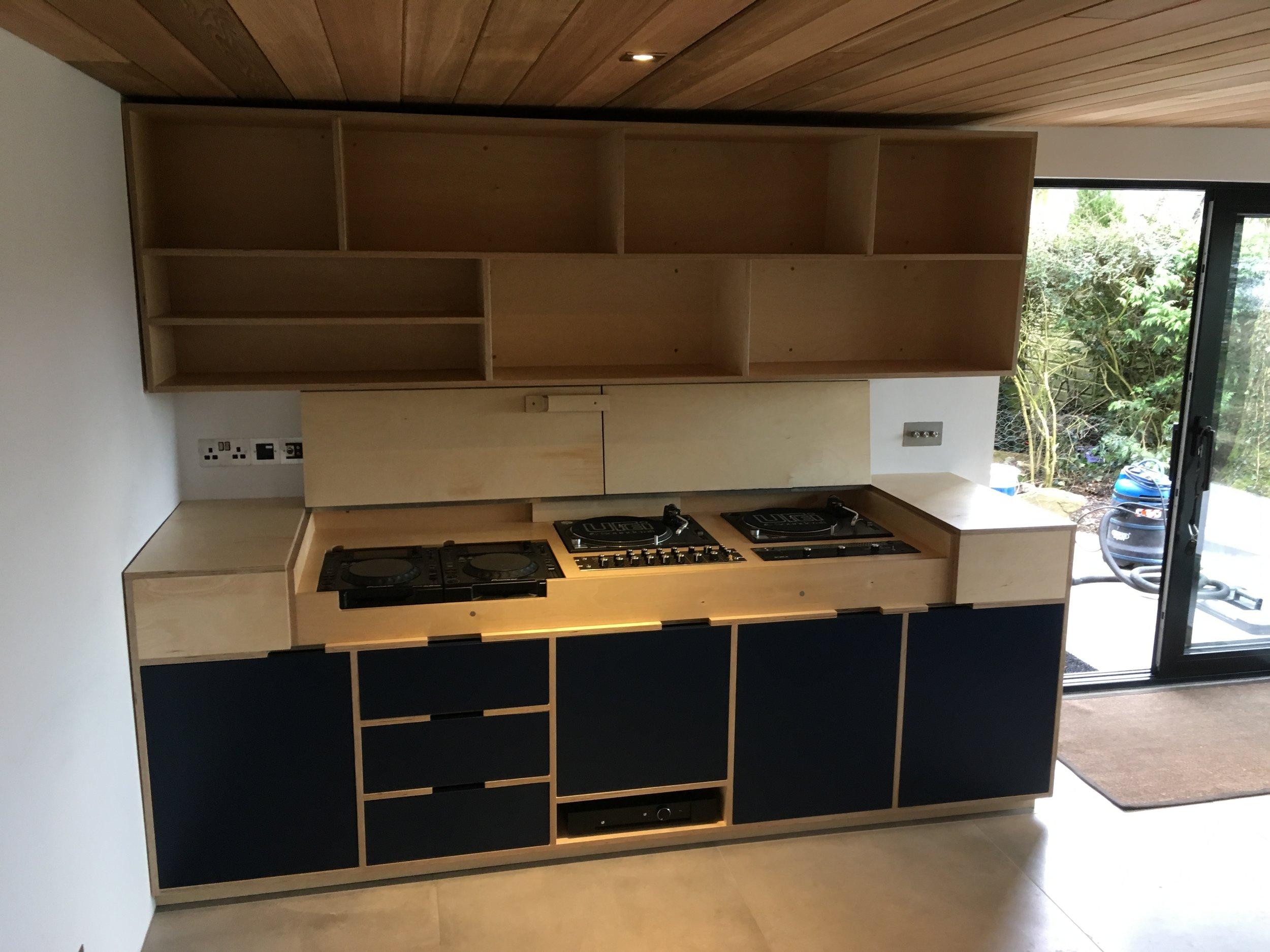 Bespoke Cabinet designed for DJ decks near Monmouth