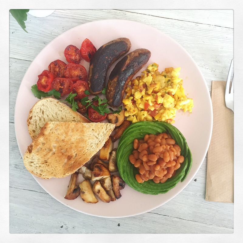 The Paradise Breakfast with Scrambled Ackee