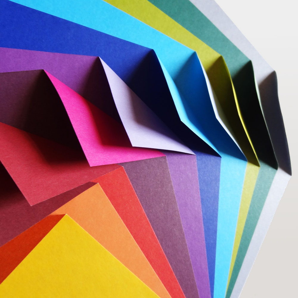 Double-Sided Origami Paper - visually striking double-sided colour combinations