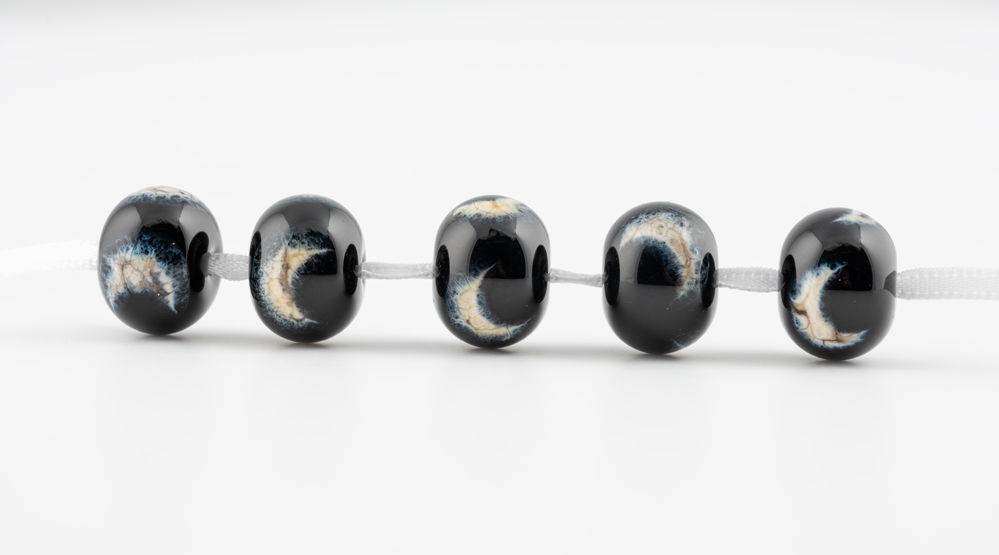 Here are the 'night sky' beads commissioned by Kate to use in embellishments for a range of bags she was designing.