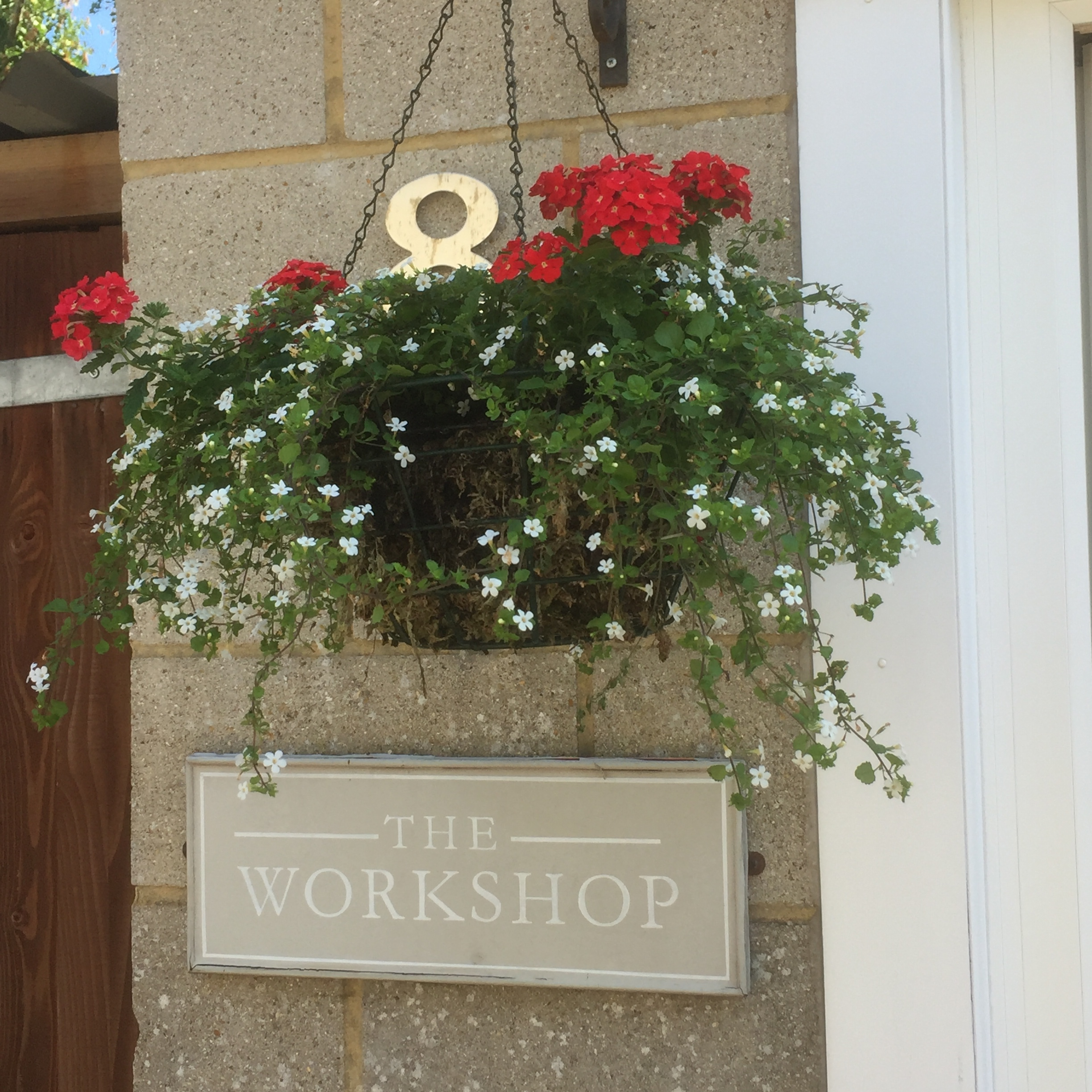 The hanging basket needs watering twice a day at the moment.