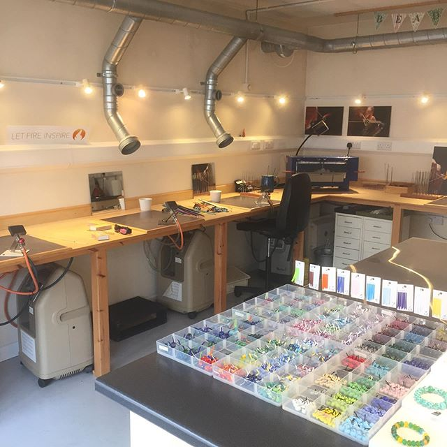 Could 🔥 #letfireinspire really be ready for @artwavefestival #artwave2019? YES! Open 11am to 5pm over the next three Saturdays and Sundays! Watch #lampwork glass #beadmaking in action and browse #artisanbeads and jewellery for sale! 👉 Link in bio 🔥