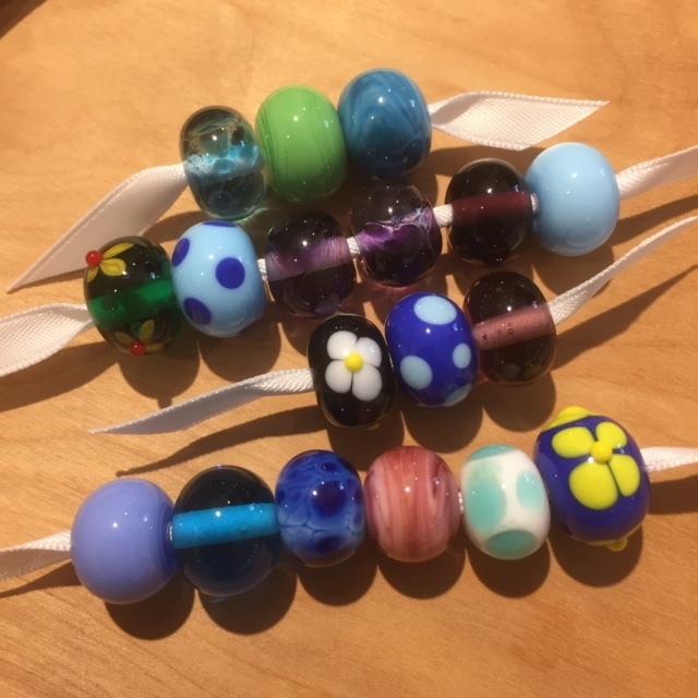 Jayne & Linda's beads, and my demo beads