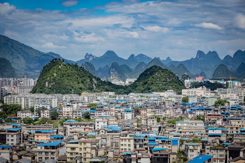 The city of Guilin in Guangxi Province, China. Image:  Thomas Bächinger