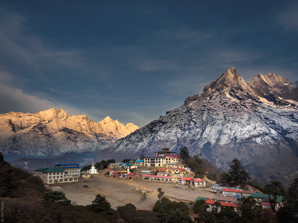 Sunrise at Tengboche.  Ivan Borisov .