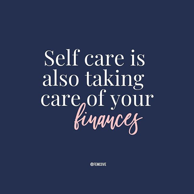 Financial Wellness is a form of self care💆🏾‍♀️💆🏽‍♀️💆🏼‍♀️ . Most of us recognize the importance of self care in taking the time to nurture our physical and emotional wellbeing but how connected are you with your money💰? . . Financial self care is about connecting with our money in a more conscious way so that our thoughts and actions with our money add to our well being and not subtract. . . #femcove #femmoney #financialwellness #financialfreedom #wealth #goals