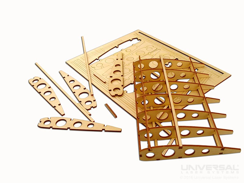 natural_(organic)_materials_wood_laser_cutting_model_airplane_wing_with_a_10.6_micron_co2_laser