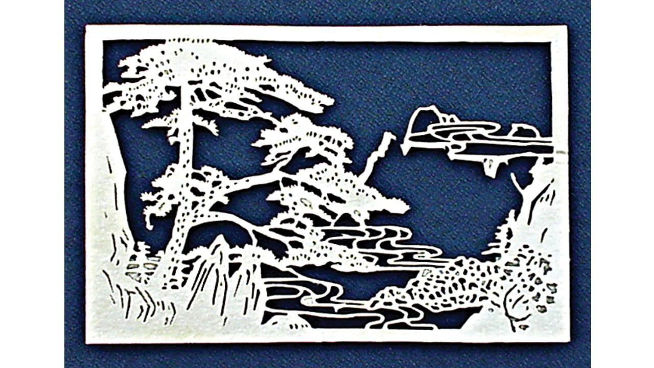 Paper laser cut bonzai tree