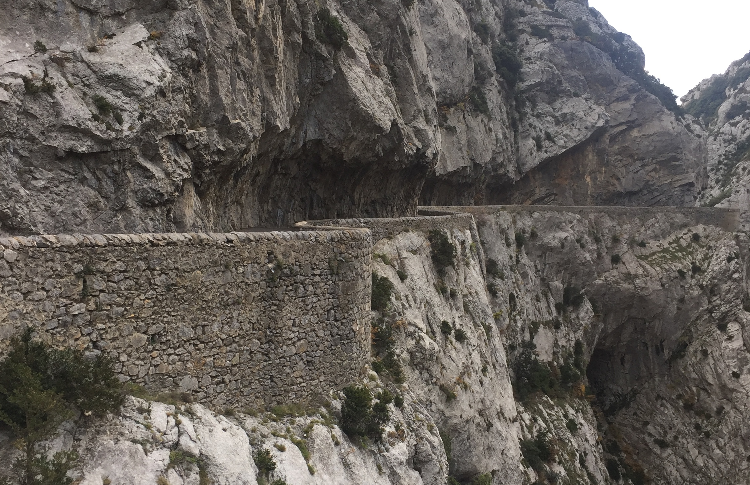 Balcony roads are roads cut into the sides of sheer cliffs