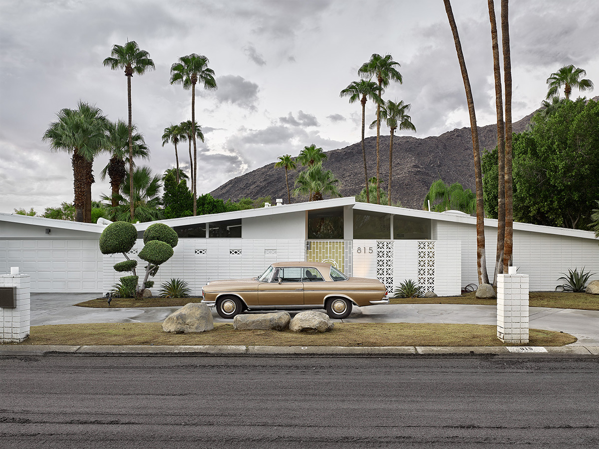 Gold Mercedes, Palm Springs.jpg