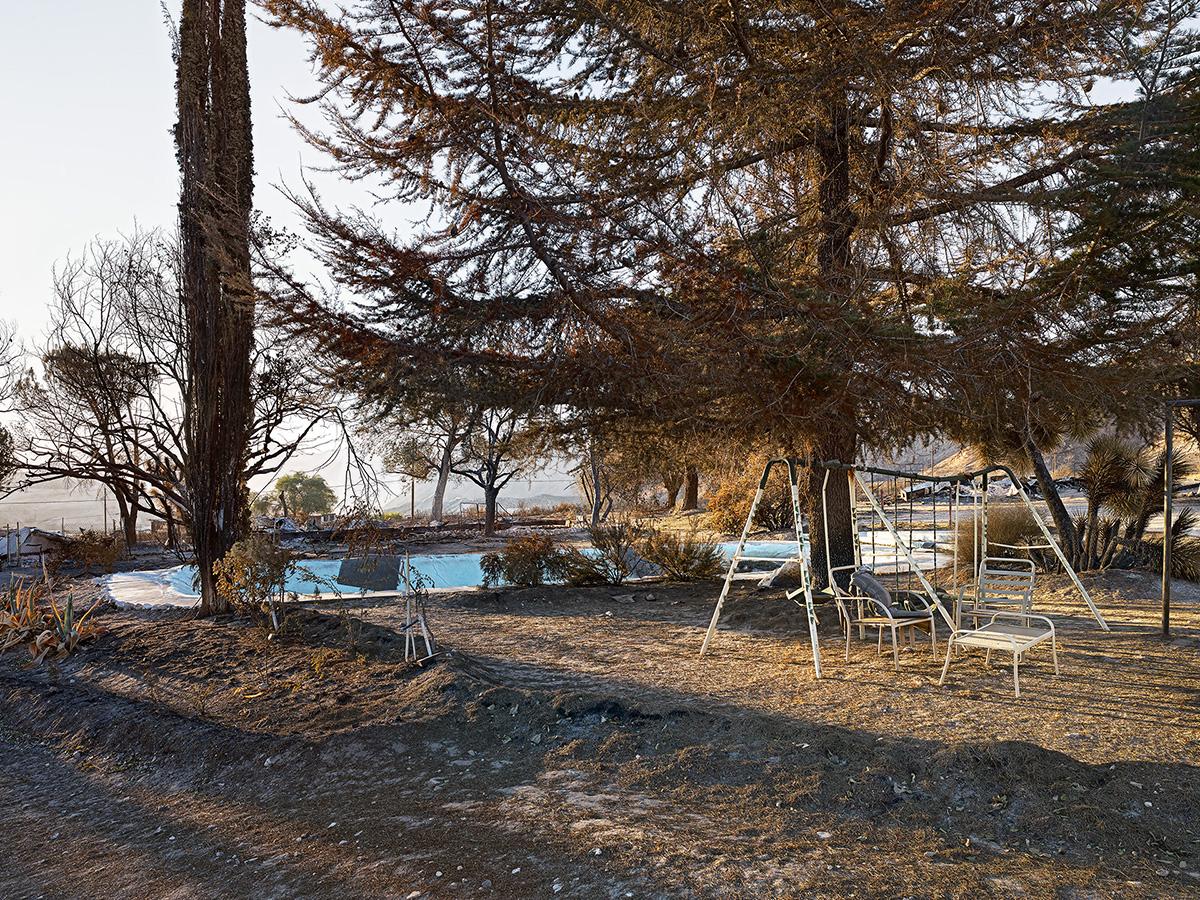Swingset and Pool at Burnt Home, California.jpg