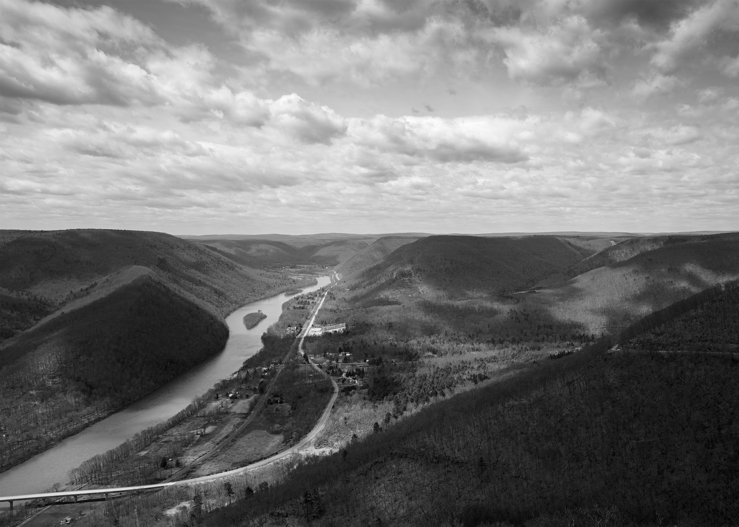 Susquehanna Valley from Hyner View, North Bend, Pennsylvania