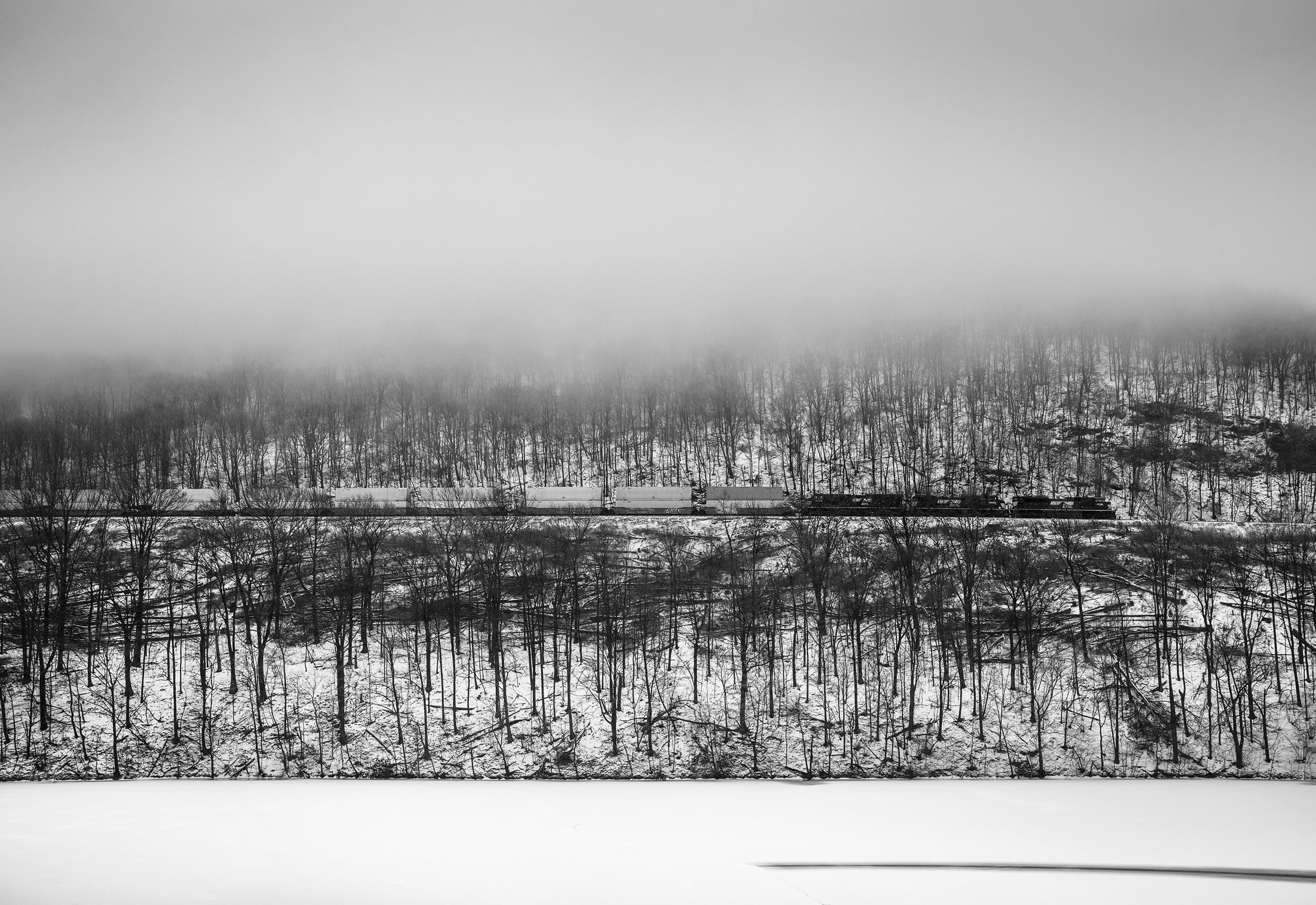Eastbound Descending Horseshoe, Near Altoona, Pennsylvania