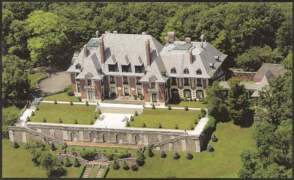 Elegant mansion with garden