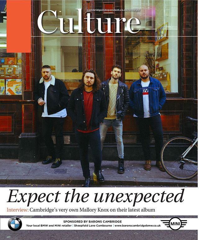 Thank you @cambridgeindependent for the Culture cover feature. Pick up a copy and read the full interview. And come to @cambridgejunction tomorrow night!