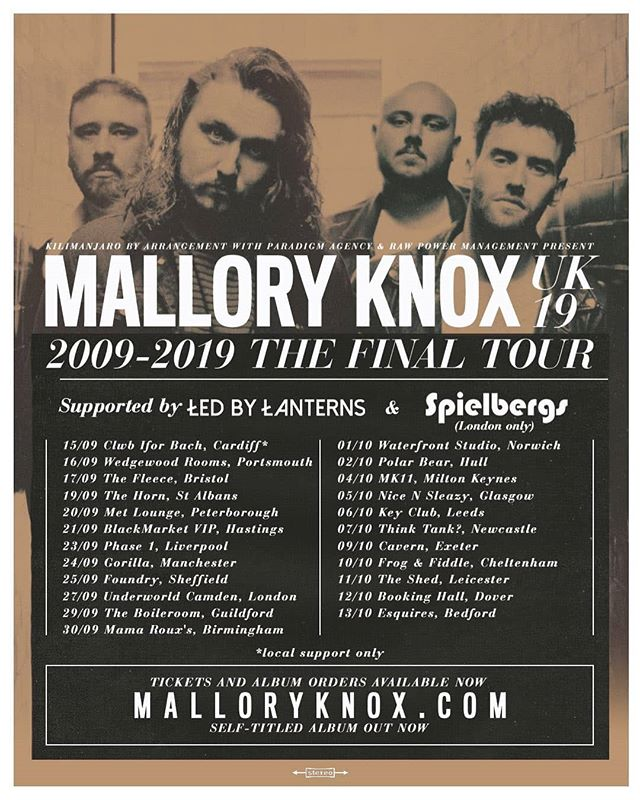 We kick off The Final Tour tonight in Cardiff, there are still some tickets left so come and celebrate 10 years of MK 👊