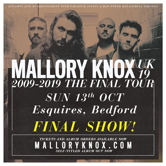 The final show. Bedford Esquires, October 13th. Tickets on sale now.
