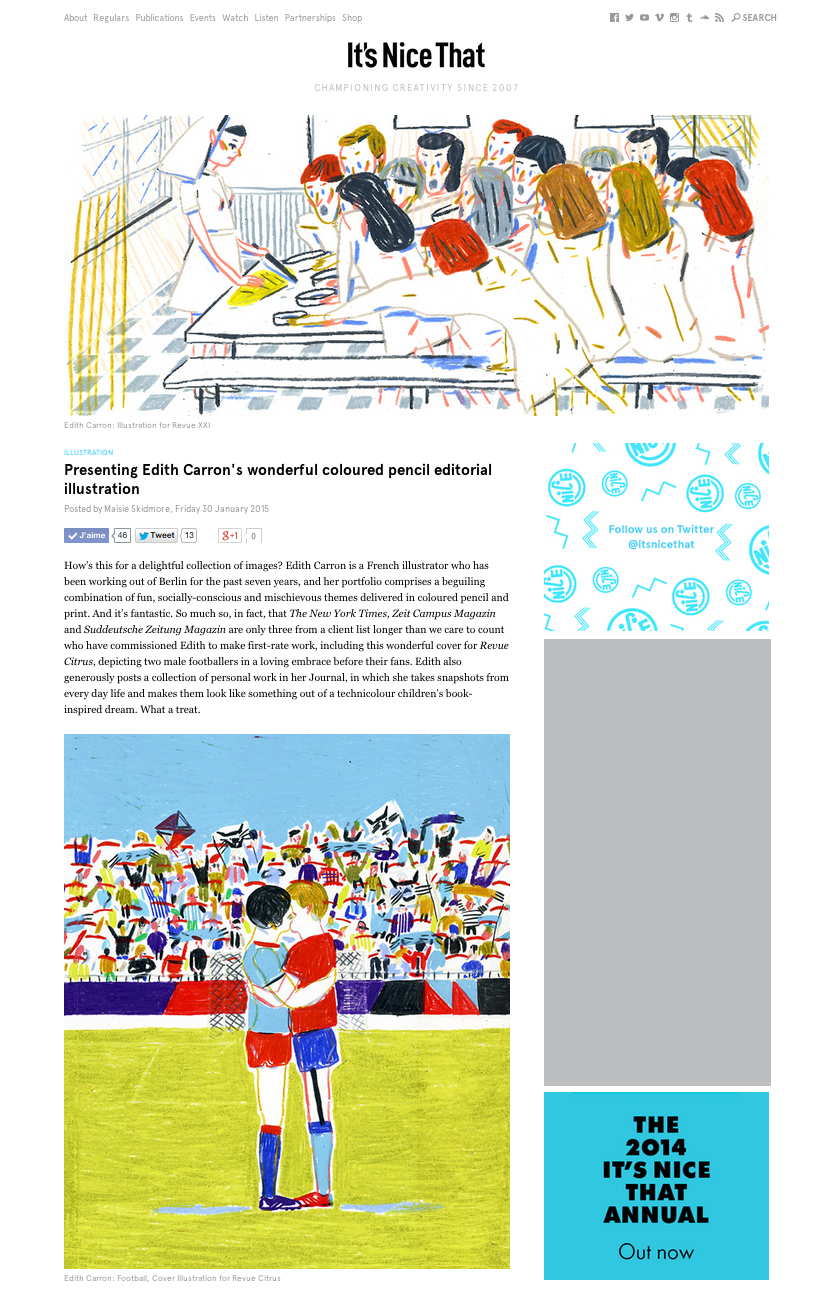 article in IT'S NICE THAT :    http://www.itsnicethat.com/articles/edith-carron