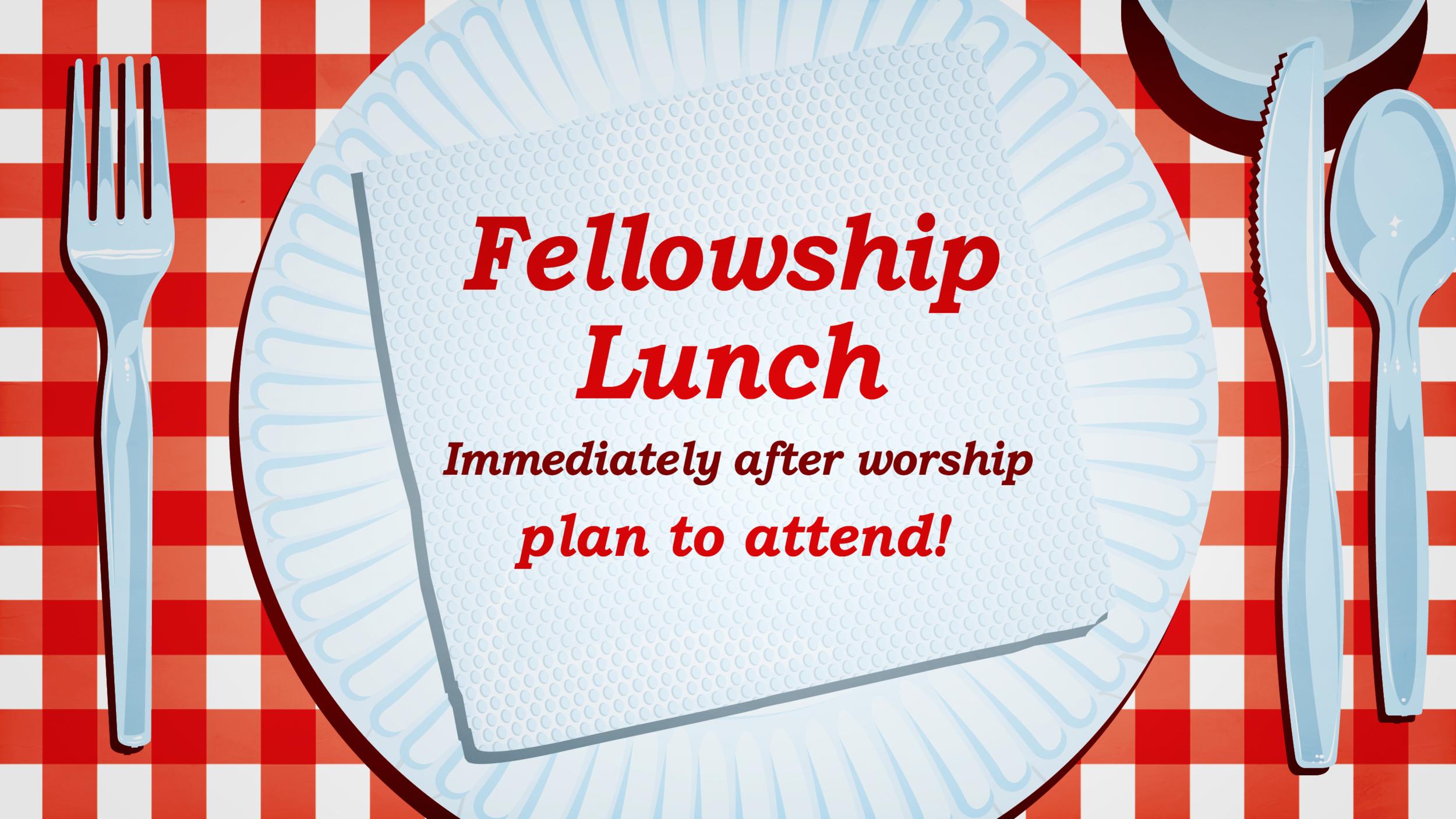 Fellowship Luncheon — First Christian Church, Keswick