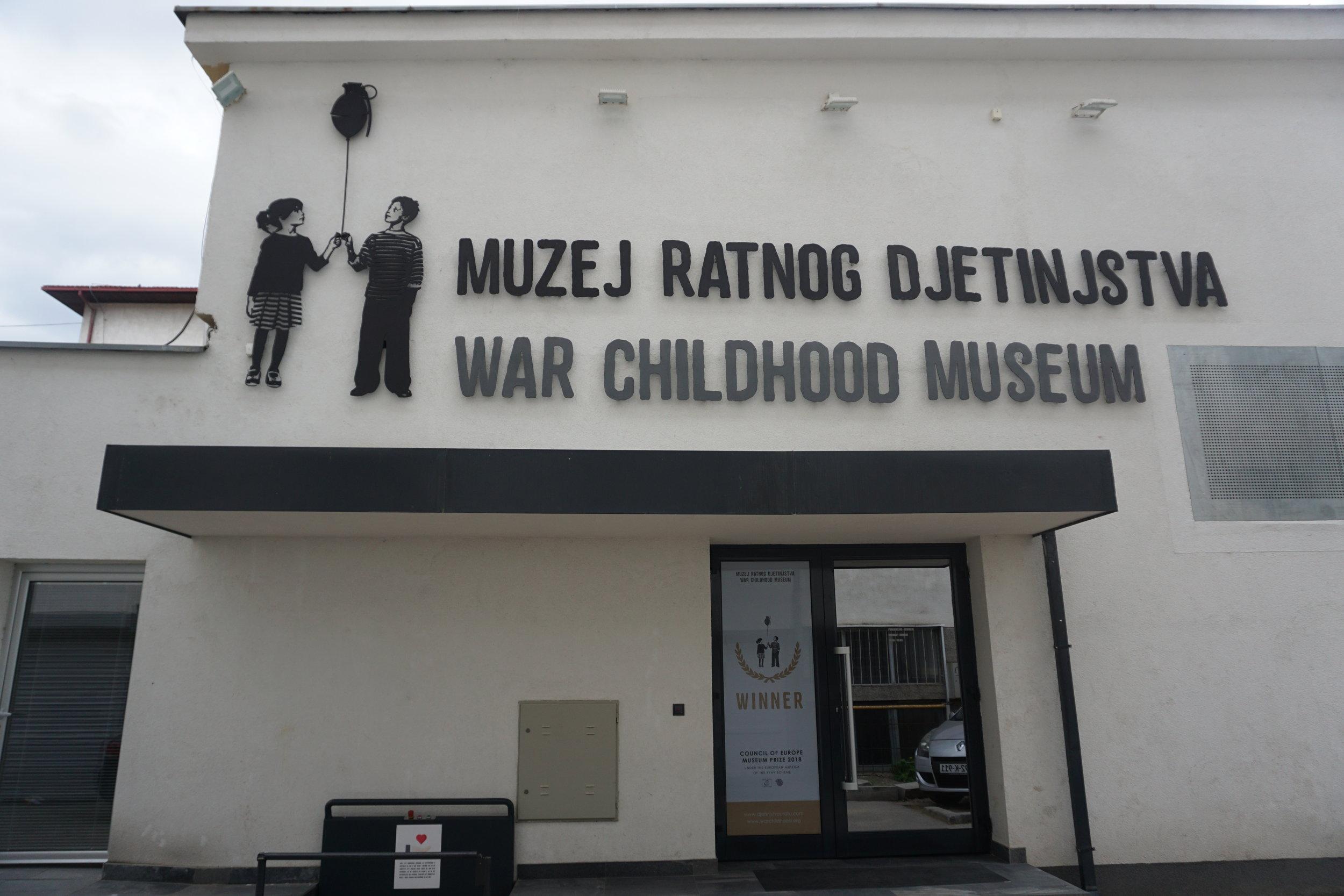 Vuoden 2018 eurooppalaiseksi museoksi valittu War Childhood Museum sijaitsee osoitteessa Logavino 32, Sarajevo.