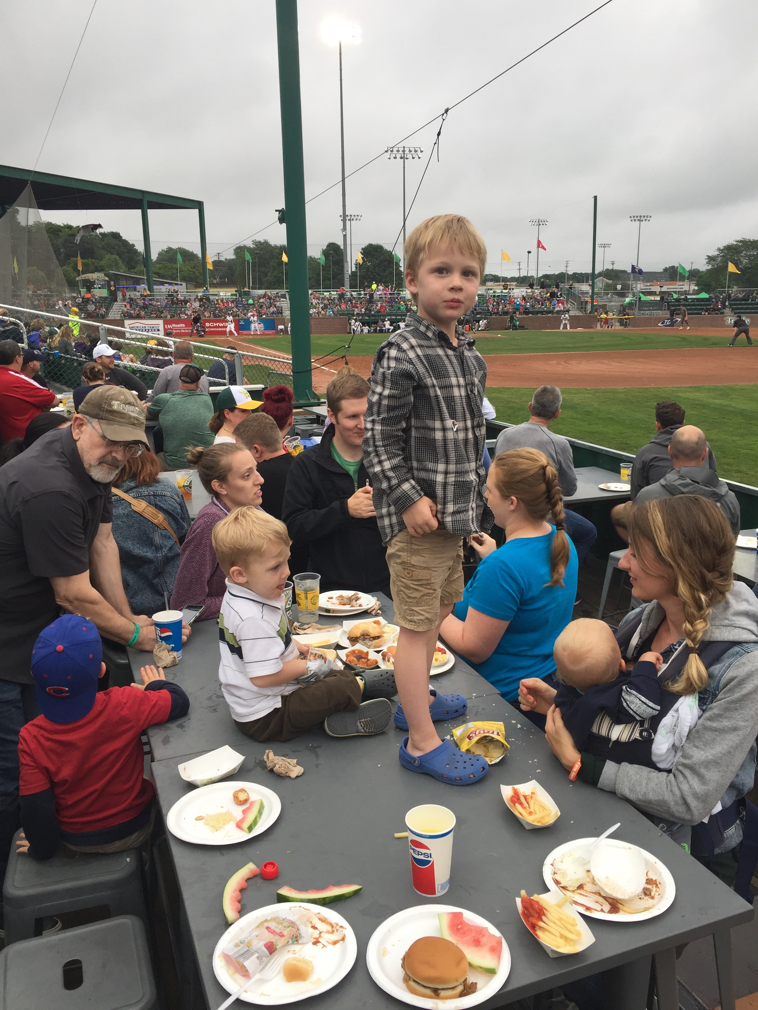 Mallards Game - Baseball and food with friends