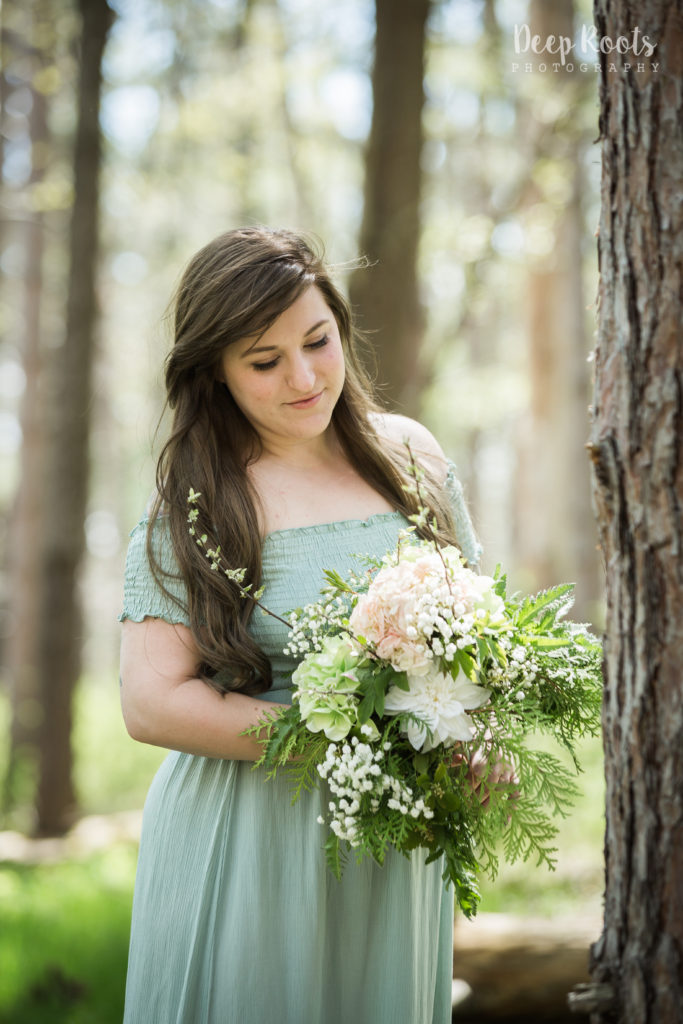 Beautiful Jenny and Her Bouquet!