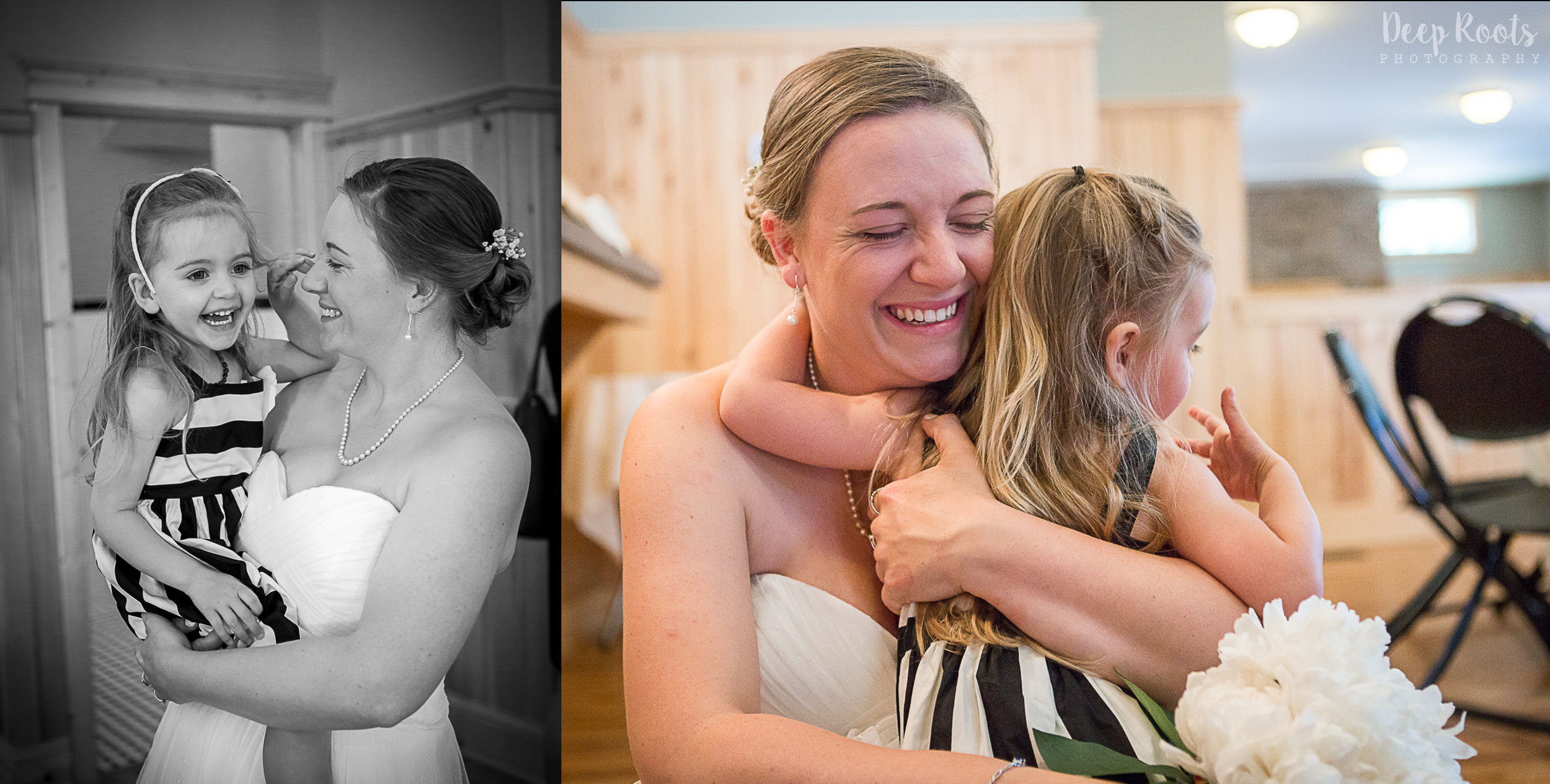 Lily just wanted hugs from her momma before the ceremony!