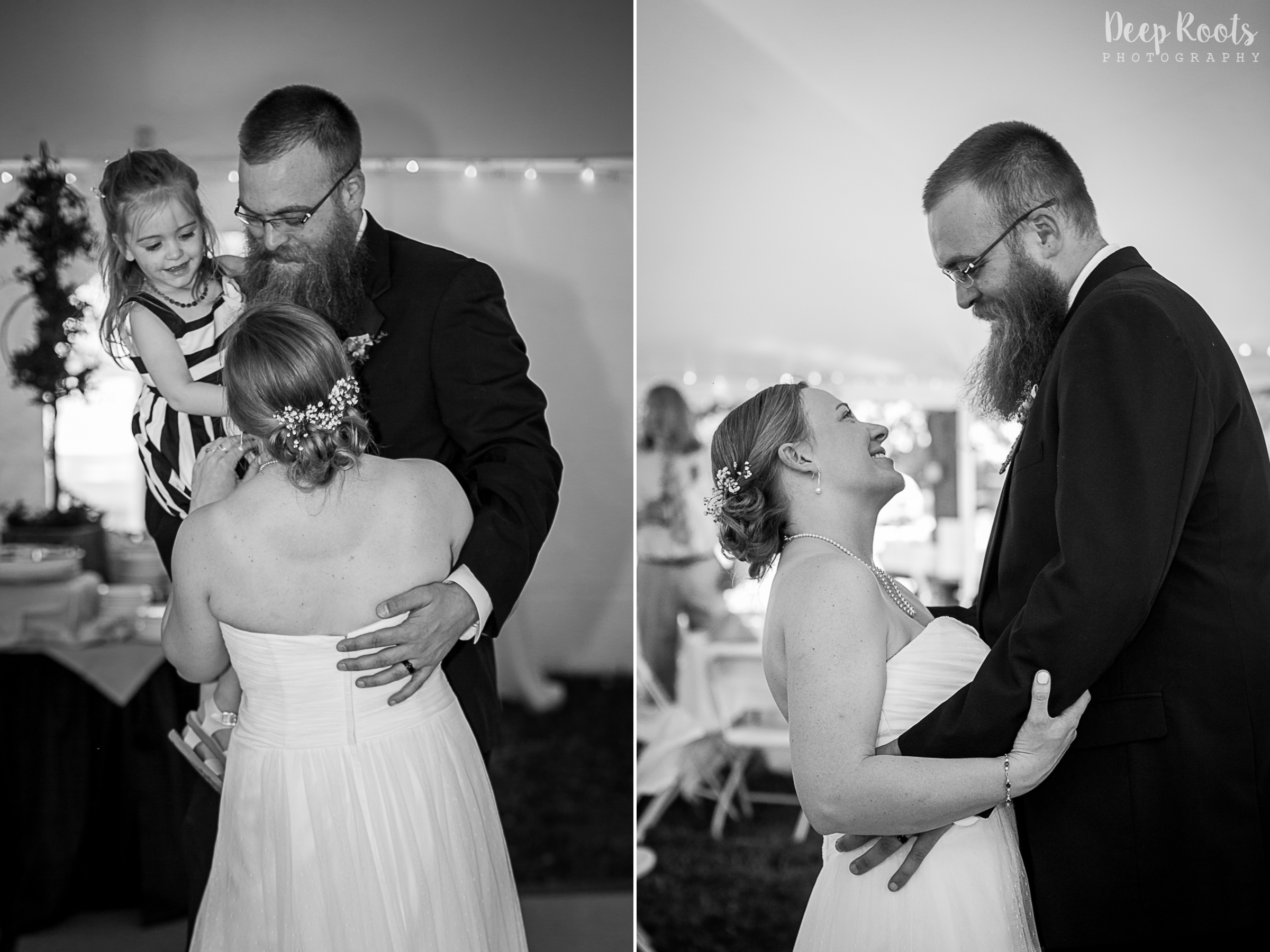 Lily joined Sarah and Todd for their first dance. So cute!