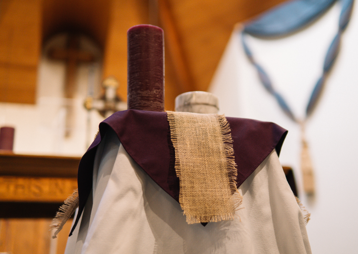 Ash Wednesday, Candle, Ashes, Cross, Sackcloth