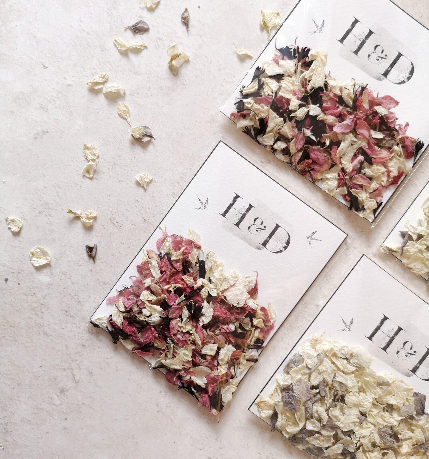 Petal Confetti Petals Confetti Sachets Bride Biodegradable Matilda Collection Personalised Confetti Sachets Wedding Confetti