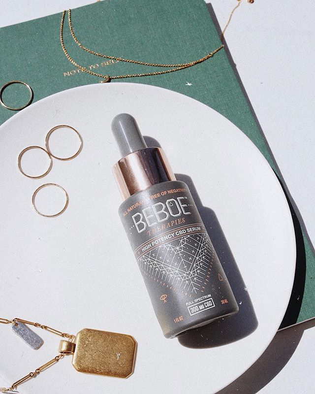 Currently loving: @beboetherapies CDB serum for an extra boost of hydration this fall 🌿✨