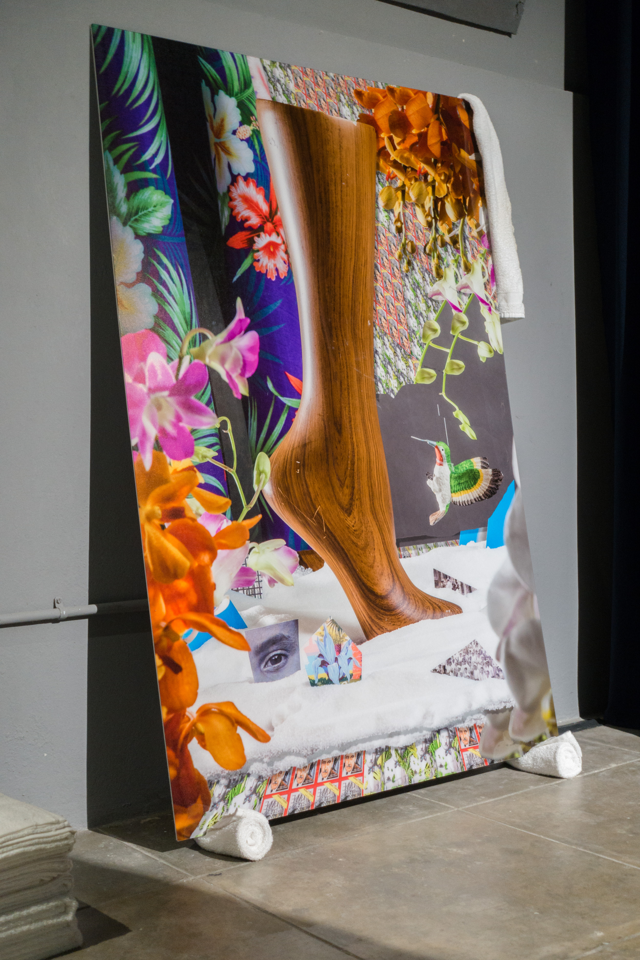 Installation view of Untitled (The King of Towels)