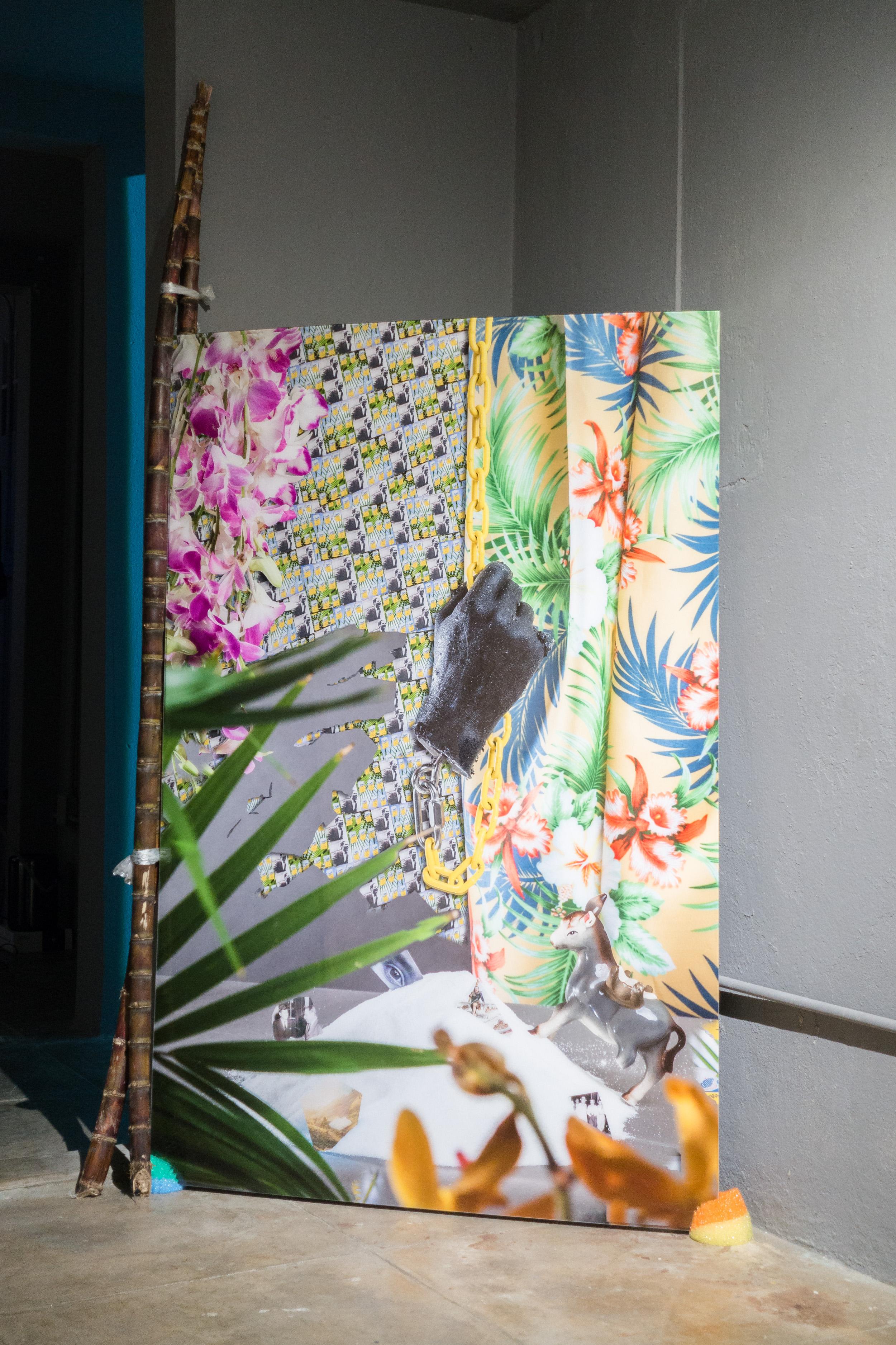 Installation view of Untitled (El Burro)