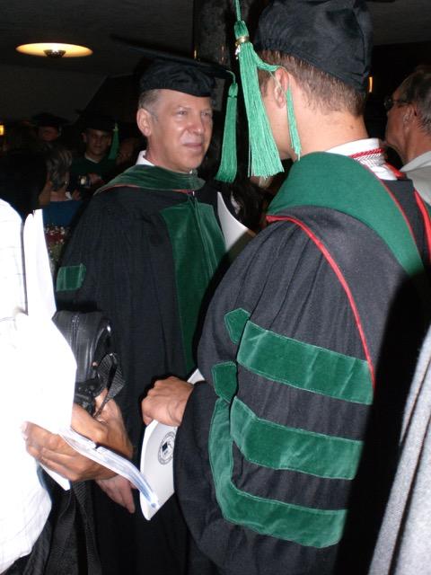 John at graduation - Image courtesy of Cari Brackett